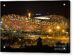 The Birds Nest Stadium China Acrylic Print