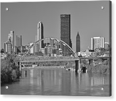 The Birmingham Bridge In Pittsburgh Acrylic Print by Digital Photographic Arts