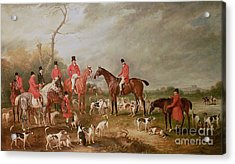 The Birton Hunt Acrylic Print by John E Ferneley