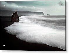 The Black Beach Acrylic Print