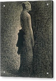 The Black Bow Acrylic Print by Georges Pierre Seurat
