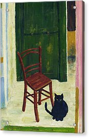 The  Black Cat Acrylic Print by Hartmut Jager