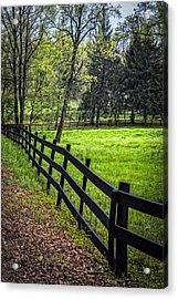 The Black Fence Acrylic Print
