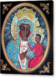 The Black Madonna Acrylic Print by Ecinja Art Works