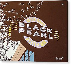 The Black Pearl In Midtown Acrylic Print by Paul Guyer