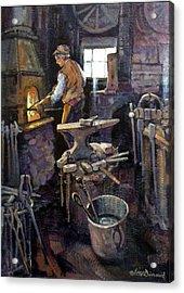 The Blacksmith Acrylic Print by Richard McDiarmid