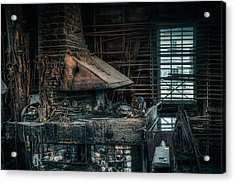 The Blacksmith's Forge - Industrial Acrylic Print by Gary Heller