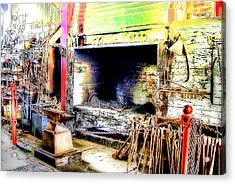 The Blacksmiths Forge. Acrylic Print by Trevor Kersley