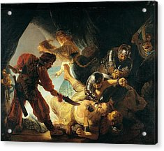The Blinding Of Samson Acrylic Print by Rembrandt van Rijn