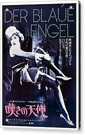 The Blue Angel, Marlene Dietrich Acrylic Print