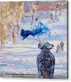 The Blue Bird Acrylic Print by Victoria Kharchenko