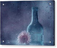 The Blue Bottle Acrylic Print by Delphine Devos