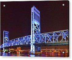 The Blue Bridge - Main Street Bridge Jacksonville Acrylic Print