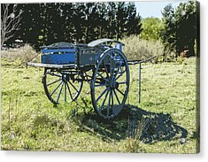 The Blue Cart Acrylic Print by Gary Cowling