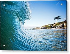 Acrylic Print featuring the photograph The Blue Curl by Paul Topp