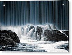 The Blue Curtain Acrylic Print
