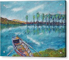 The Blue Danube Is Turquoise Acrylic Print
