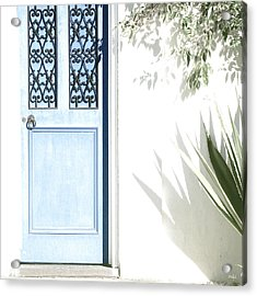 The Blue Door Acrylic Print by Holly Kempe