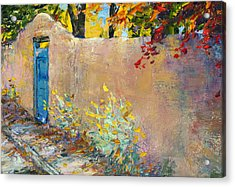 The Blue Door Acrylic Print by Steven Boone