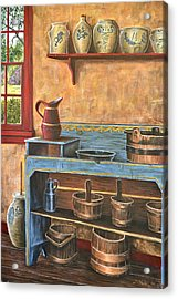 The Blue Dry Sink Acrylic Print by Dave Hasler