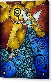 The Blue Fairy Acrylic Print by Mandie Manzano