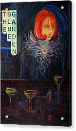 The Blue Garden Acrylic Print by Carolyn LeGrand