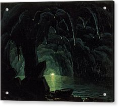 The Blue Grotto Acrylic Print by Albert Bierstadt
