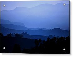Acrylic Print featuring the photograph The Blue Hills by Matt Harang