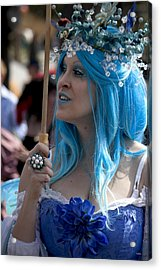 The Blue Lady Acrylic Print by Ivete Basso Photography