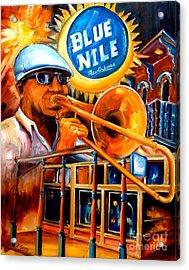 The Blue Nile Jazz Club Acrylic Print by Diane Millsap