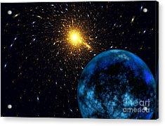 The Blue Planet Acrylic Print by Klara Acel