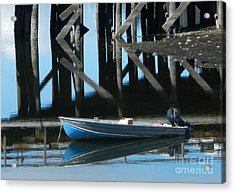 The Blue Skiff Acrylic Print by Laura  Wong-Rose