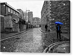 The Blue Umbrella - Sc Acrylic Print