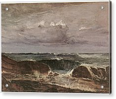 The Blue Wave Biarritz Acrylic Print by James Abbott McNeill Whistler