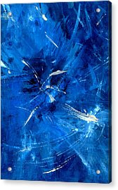 Acrylic Print featuring the painting The Blues by Carolyn Repka