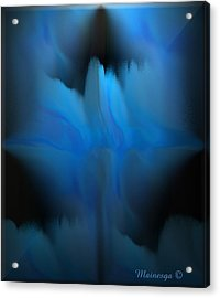 The Blues Acrylic Print by Ines Garay-Colomba