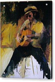 The Blues Man Acrylic Print by John L Campbell