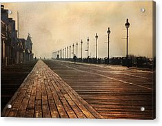 The Boardwalk Acrylic Print by Lori Deiter
