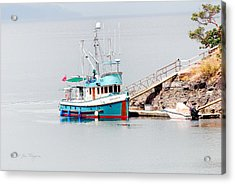 Acrylic Print featuring the photograph The Boat by Jim Thompson