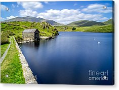 The Boathouse Acrylic Print by Adrian Evans