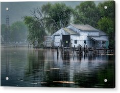 The Boathouse Acrylic Print by Bill Wakeley