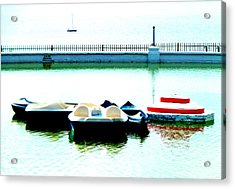 The Boating Pool On The Royal Esplanade I Ramsgate Acrylic Print by Steve Taylor