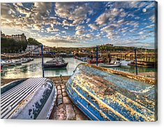 The Boats Of Folkestone Acrylic Print by Tim Stanley