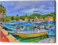 The Boats Of Hautulco Acrylic Print