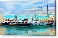 The Boats Of Malaga Spain Acrylic Print