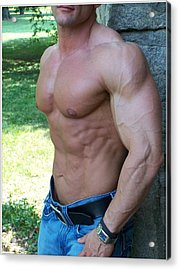 The Bodybuilder  Soft Touch Acrylic Print by Jake Hartz