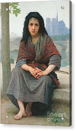 The Bohemian Acrylic Print by William Adolphe Bouguereau