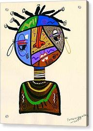 The Bold Face Of Time Acrylic Print by Oglafa Ebitari Perrin