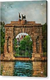 The Boldt Castle Entry Arch Acrylic Print