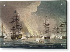The Bombardment Of Algiers By The Royal Acrylic Print by Thomas Whitcombe